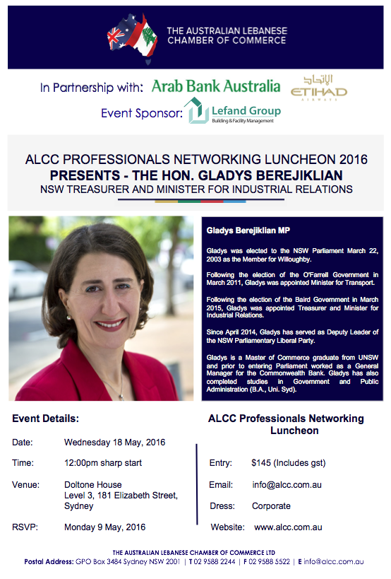 ALCC LUNCHEON 18 MAY 2016
